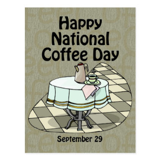 National Coffee Day September 29 Postcard