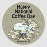 National Coffee Day September 29 Classic Round Sticker