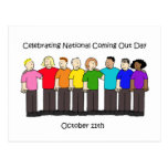 National Coming Out Day October 11th Postcard