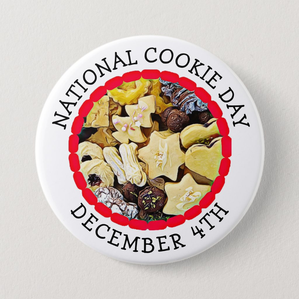 National Cookie Day December 4th Food Holiday Button