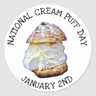 National Cream Puff Day January 2nd Stickers