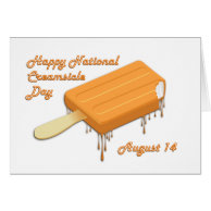National Creamsicle Day August 14 Cards