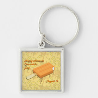 National Creamsicle Day August 14 Keychain