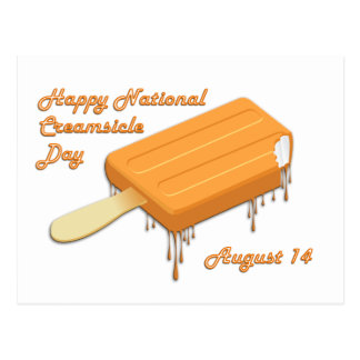 National Creamsicle Day August 14 Postcard