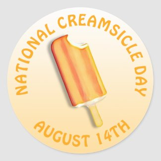 National Creamsicle Day August 14th Stickers