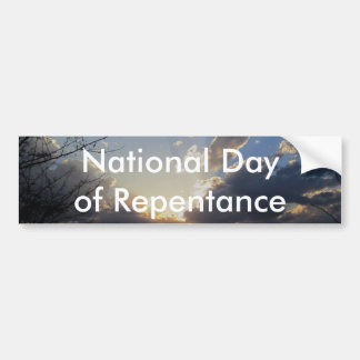 National Day of Repentance Car Bumper Sticker