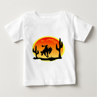 National Day of the Cowboy Bronco Silhouette Baby T-Shirt