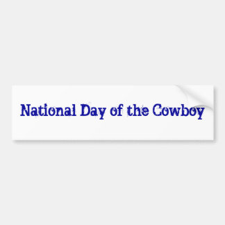 National Day of the Cowboy Bumper Sticker