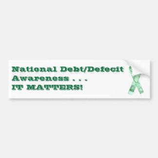 National Debt/Defecit Awareness Ribbon Bumper Sticker