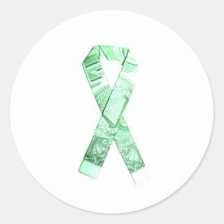 National Debt/Defecit Awareness Ribbon Round Sticker