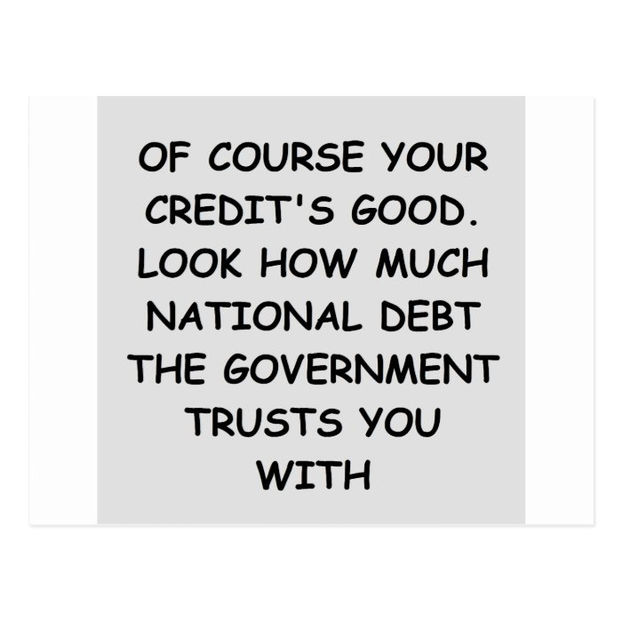national debt postcard