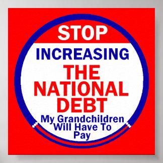 National Debt Poster