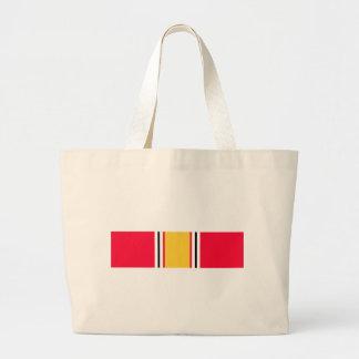 National Defense Service Ribbon Tote Bags