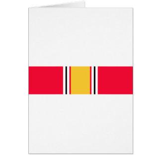 National Defense Service Ribbon Cards