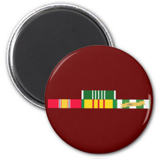 National Defense Service Vietnam Army Commendation 2 Inch Round Magnet