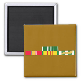 National Defense Service Vietnam Army Commendation 2 Inch Square Magnet