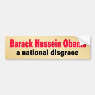 national_disgrace car bumper sticker