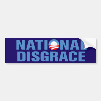 National Disgrace Car Bumper Sticker