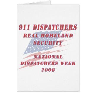 National Dispatchers Week 2008 Card