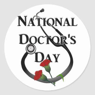 National  Doctor's Day Classic Round Sticker