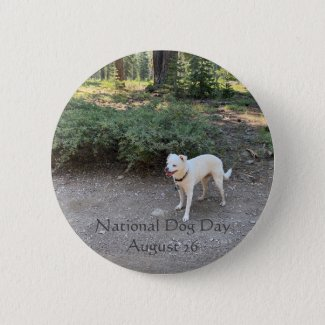 National Dog Day August 26 Button