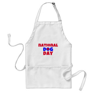 National Dog Day Heart Dog Aprons