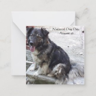 National Dog Day Note Card