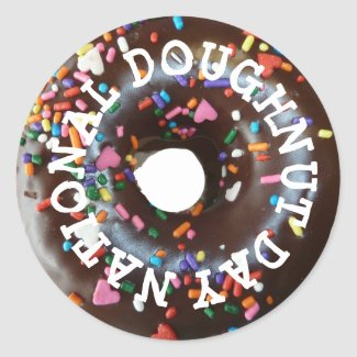 National Doughnut Day Stickers Chocolate