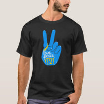 National Down Syndrome Awareness Month Peace Love  T-Shirt
