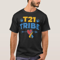 National Down Syndrome Awareness Month T21 Tribe V T-Shirt