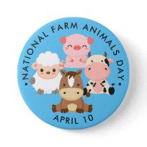 National Farm Animals Day Button