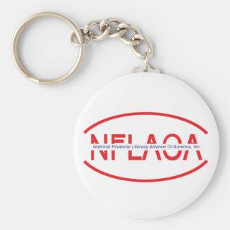 national financial literacy alliance of america, I Basic Round Button Keychain