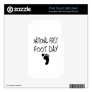 National First Foot Day Decal For iPod Touch 4G