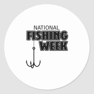 National Fishing Week Classic Round Sticker