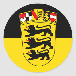 National flag Baden-Wuerttemberg Classic Round Sticker