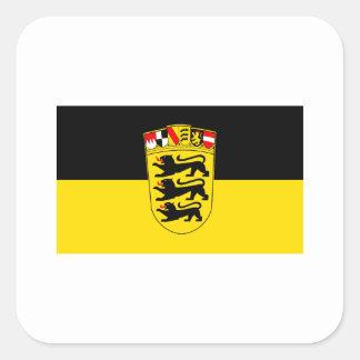 National flag Baden-Wuerttemberg Square Sticker