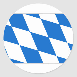 National flag Bavaria Classic Round Sticker
