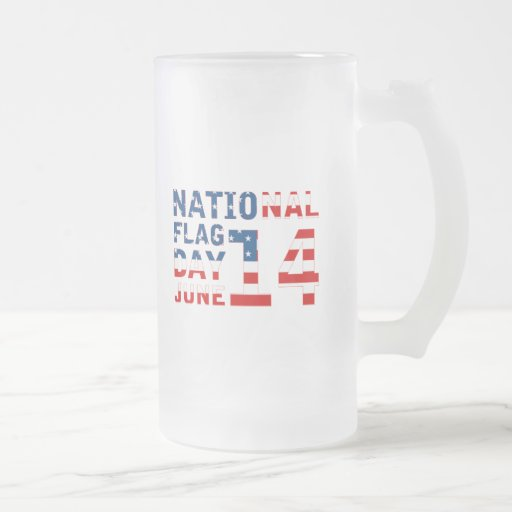 National Flag Day Frosted Glass Beer Mug