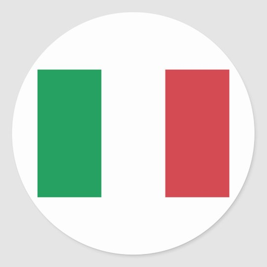 National flag Italy Classic Round Sticker