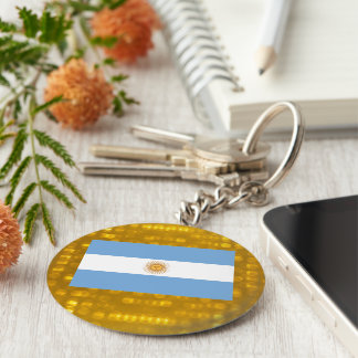 National Flag of Argentina Keychain