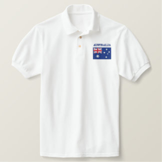 National Flag of Australia Embroidered Polo Shirt