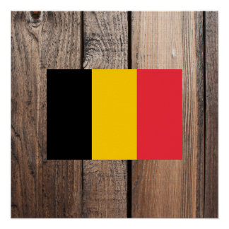 National Flag of Belgium Poster