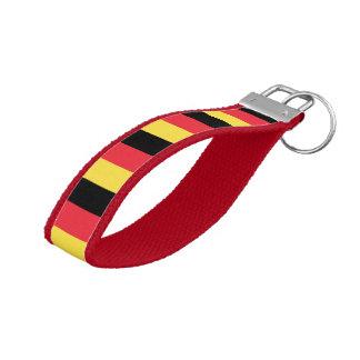 National Flag of Belgium Wrist Keychain