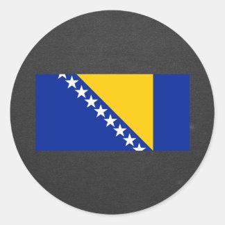 National Flag of Bosnia Herzegovina Classic Round Sticker