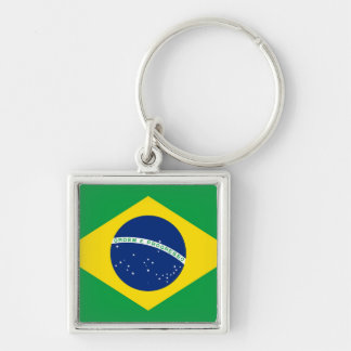 National Flag of Brazil, accurate proportion color Keychain