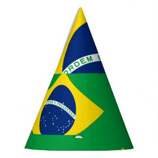 National Flag of Brazil, accurate proportion color Party Hat