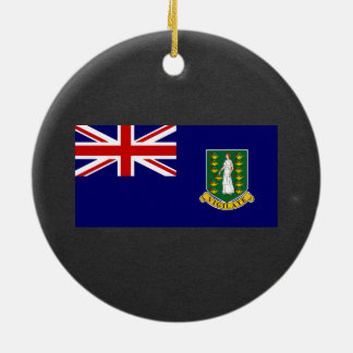 National Flag of British Virgin Islands Double-Sided Ceramic Round Christmas Ornament