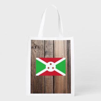 National Flag of Burundi Reusable Grocery Bag