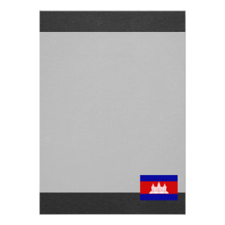 "National Flag of Cambodia 5"" X 7"" Invitation Card"