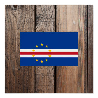 National Flag of Cape Verde Poster